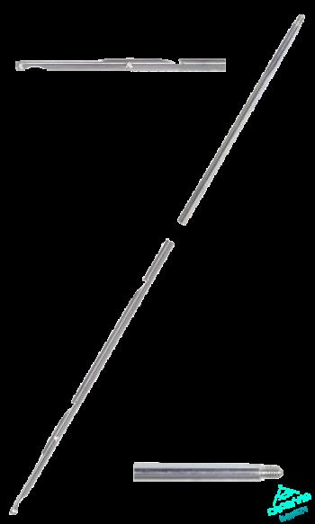 Гарпун BEUCHAT со съемным наконечником стальной 2 зацепа, 6,5/900мм