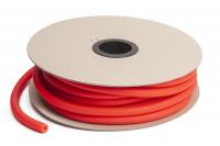 Резина для амортизации диаметр 9 мм. Красная, (Цена за 10 см.)