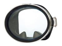 Маска классическая для плавания MS-127, круглое стекло, черный силикон ProBlue