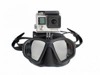 Маска Scorpena M с креплением для видеокамеры, черная