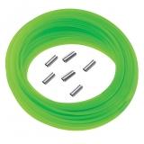 Монолинь Salvimar ядовито-зеленый 15 метров + 6 зажимов. ø1,5 мм 100 кг. на разрыв.