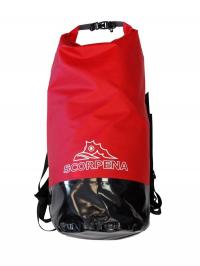 Герморюкзак Scorpena OREDEZH 60-80-100 литров чёрно-красный