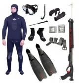 """Готовый комплект снаряжения для подводной охоты """"Начальный"""" 5 мм."""
