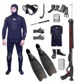 """Готовый комплект снаряжения для подводной охоты """"Начальный"""" 9 мм."""