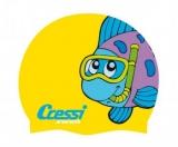 Шапочка для плавания Cressi CAP JR детская силиконовая, цвета в ассортименте с картинками