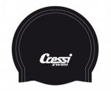 Шапочка для плавания Cressi 38GR силиконовая, цвета в ассортименте (черный, синий, белый)